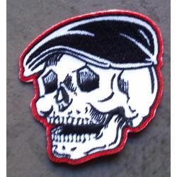 patch tete de mort rocker a casquette ecusson rockabilly