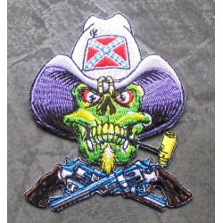 patch crane cowboy  chapeau rebel ecusson rock roll trash
