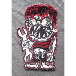 patch monstre  roux avec clé outil ecusson veste garage bike