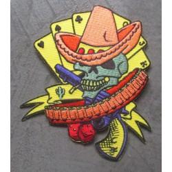 patch crane bandido avec chapeau et pistolet ecusson