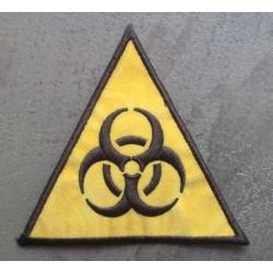 patch biohazard triangle jaune danger radiation ecusson rock