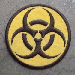 patch biohazard rond jaune danger radiation ecusson rock