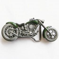 boucle de ceinture moto choppers verte homme femme biker