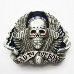 boucle de ceinture bone to the bad biker motard moteur v2