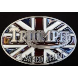 boucle de ceinture triumph drapeau anglais homme femme