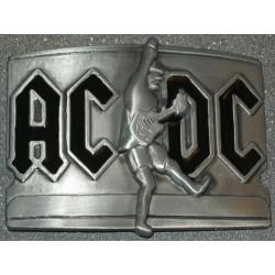 boucle de ceinture AC-DC  et guitare  couleur noir hard rock