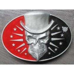 boucle de ceinture vince ray crane chapeau rouge noir rockab