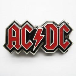 boucle de ceinture AC-DC écriture rouge hard rock kult usa