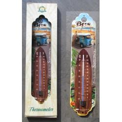 thermometre combi bleu et planche surf vw volkswagen bus