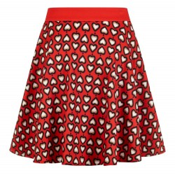 jupe  rouge a coeur blanc 40 ideal pin up rockabilly rock roll