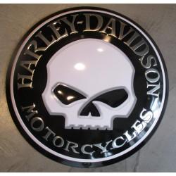plaque Harley Davidson crane aille bombe 36cm motorcycle usa