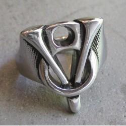 bague V8 logo moteur 12us fan voiture americaine chevaliere homme