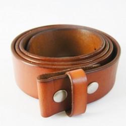 XL 125 cm ceinture en cuir véritable marron homme femme pleine fleur