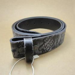 XL 125cm ceinture en cuir véritable noir gris gravé homme femme