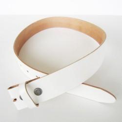 XL 125cm ceinture en cuir véritable blanche homme femme pleine fleur