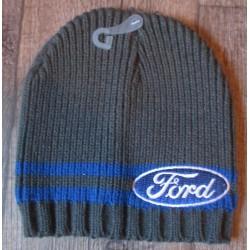 bonnet ford gris a bande bleu enfant 6-12 ans logo ovale