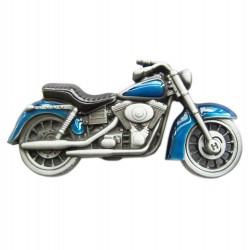 boucle de ceinture moto bleu homme femme biker motard