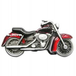 boucle de ceinture moto rouge homme femme biker motard