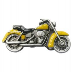 boucle de ceinture moto jaune homme femme biker motard