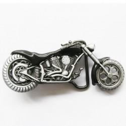 boucle de ceinture moto chopper noire homme femme biker