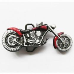 boucle de ceinture moto chopper rouge homme femme biker