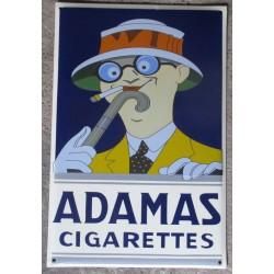 grosse plaque emaillee adamas cigarette tole email pub retro