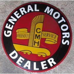 grosse plaque emaillee general motors dealer GM tole email