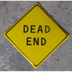 grosse plaque emaillee dead end jaune tole email deco bar