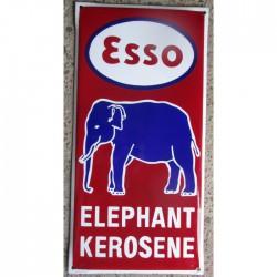 grosse plaque emaillee esso elephant kerosene tole email
