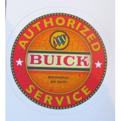 mini sticker buick authorised service orange autocollant pin up