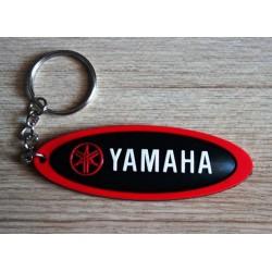 porte clé moto yamaha oval noir plastique souple sportive
