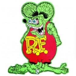 gros patch rat fink vert et rouge 20.5cm  kustom kulture ecusson dos veste blouson