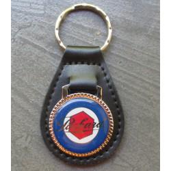porte clé métal cuir packard logo bleu et rouge auto voiture americaine
