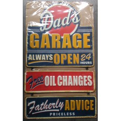 plaque tole épaisse dads garage open 24 hours oil change avec chainette  hot rod