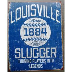 plaque baseball louisville slugger since 1884 deco bar usa diner loft