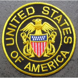 patch rond united states of america 7.5 cm ecusson thermocollant usa drapeau