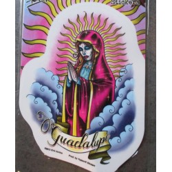 sticker vierge guadalupe style muerte mexicain autocollant style tattoo