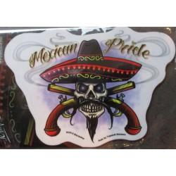 sticker mexican pride  autocollant style tattoo mexicain pistolets croisés