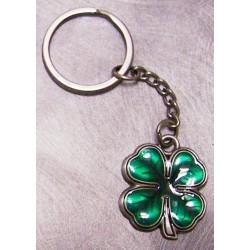 porte clé statue trefle a 4 feuilles vert irish irelande porte bonheur en metal auto moto usa