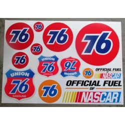 1 planche de stickers 76 oil huile essence decoration auto moto rallye