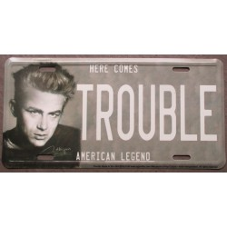 plaque d'immatriculation james dean trouble tole deco maison fan