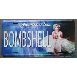 plaque d'immatriculation  marilyn monroe bombshell pin uptole deco maison fan