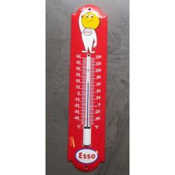 thermometre en email esso boy goute d'huile deco garage tole emaillée
