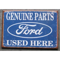 magnet 8x5.5 cm ford parts used here deco garage cuisine bar diner loft frigo
