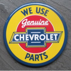 magnet 7.5 cm  chevrolet parts used here deco garage cuisine bar diner loft frigo