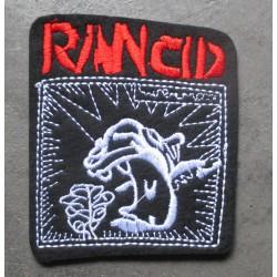 patch groupe hard rock rancid 8x7 cm  écusson  thermocollant  veste chemise
