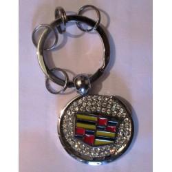 porte clé cadillac logo métal et strass  automobile americaine keychain