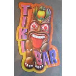 plaque tiki bar  tir la langue 51 x30 cm tole metal garage diner loft café