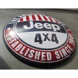 plaque bombée jeep 4x4 tout terrain 40 cm tole metal garage diner loft