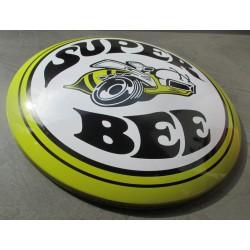 plaque bombée mopar super bee guepe jaune 40 cm tole metal garage diner loft